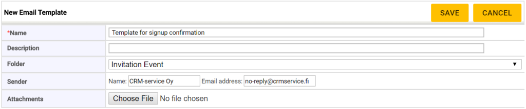 Email Templates Crm Service Resources